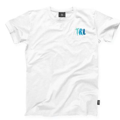 """T-Shirt """"TRL"""" Takie Rzeczy Label      Biało/Niebieski"""