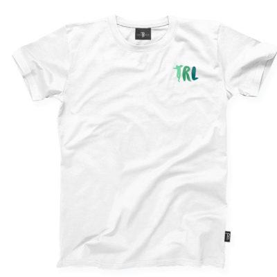 """T-Shirt """"TRL"""" Takie Rzeczy Label      Biało/Zielony"""