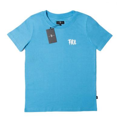 """T-Shirt Damski """"TRL"""" Błękitny/Biały"""