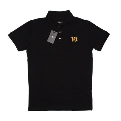 """T-Shirt Polo """"TRL"""" Czarny/Złoty"""