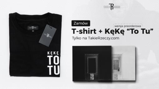 """ZESTAW: Płyta CD """"KęKę ToTu"""" (Wersja Preorderowa) + T-Shirt """"KęKę – ToTu"""" Czarno/Biały"""